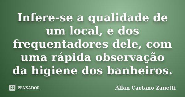 Infere Se A Qualidade De Um Local E Dos Allan Caetano