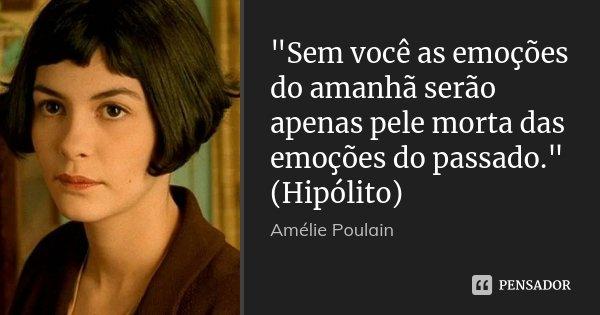 Sem Você As Emoções Do Amanhã Amélie Poulain