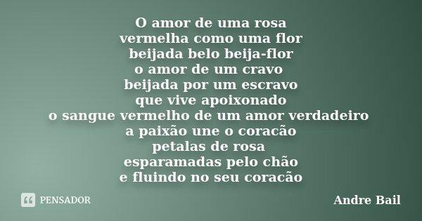 O Amor De Uma Rosa Vermelha Como Uma Andre Bail