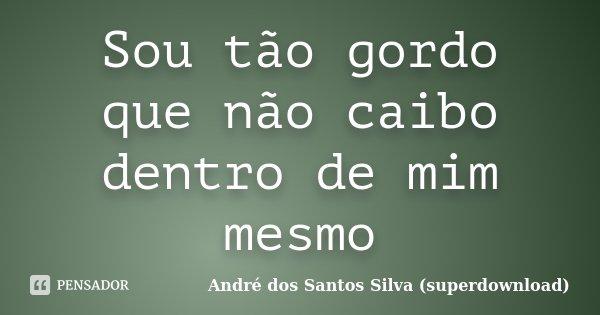 Sou tão gordo que não caibo dentro de mim mesmo... Frase de André dos Santos Silva (superdownload).