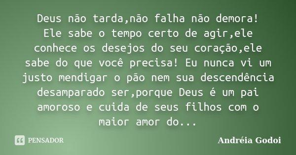 Deus Não Tardanão Falha Não Demora Andréia Godoi