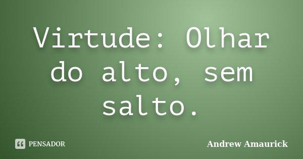 Virtude: Olhar do alto, sem salto.... Frase de Andrew Amaurick.