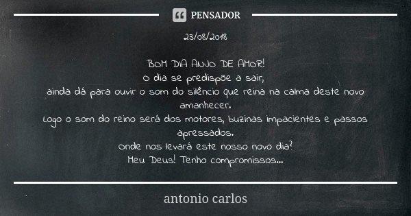 23/08/2018 BOM DIA ANJO DE AMOR! O Dia... Antonio Carlos