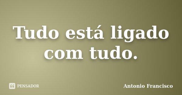 Tudo está ligado com tudo.... Frase de Antonio Francisco.