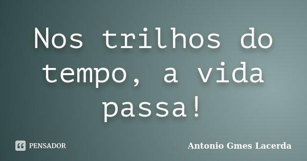 Nos trilhos do tempo, a vida passa!... Frase de Antonio Gmes Lacerda.