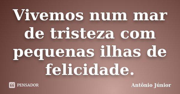 Vivemos num mar de tristeza com pequenas ilhas de felicidade.... Frase de Antônio Junior.