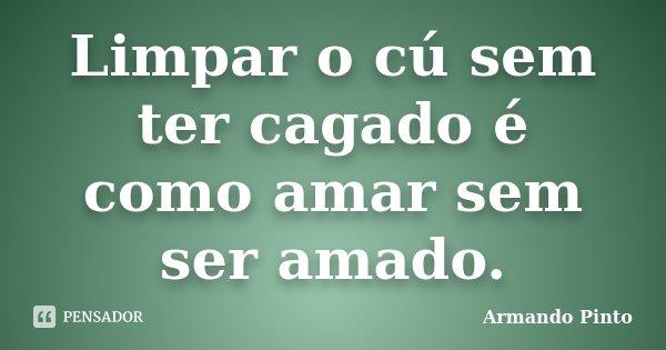 Limpar o cú sem ter cagado é como amar sem ser amado.... Frase de Armando Pinto.