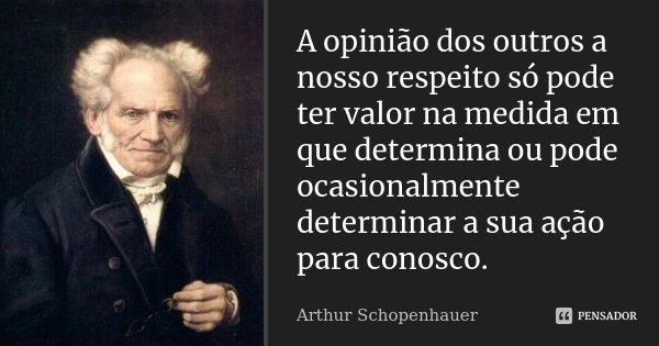 A Opinião Dos Outros A Nosso Respeito Arthur Schopenhauer