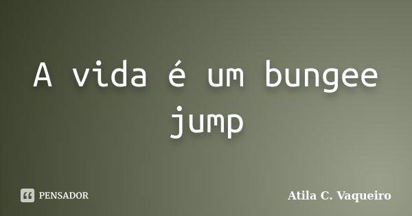 A vida é um bungee jump... Frase de Atila C. Vaqueiro.