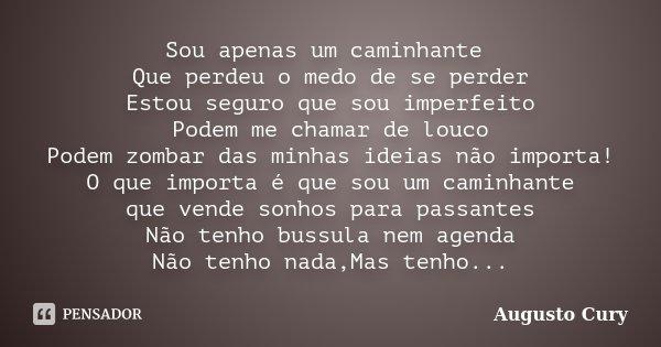 Sou Apenas Um Caminhante Que Perdeu O Augusto Cury