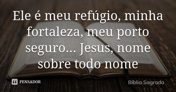 Ele é Meu Refúgio Minha Fortaleza Bíblia Sagrada