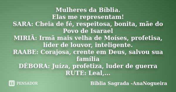 Mulheres Da Bíblia Elas Me Biblia Sagrada Ananogueira