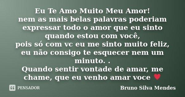 Eu Te Amo Muito Meu Amor Nem As Mais Bruno Silva Mendes