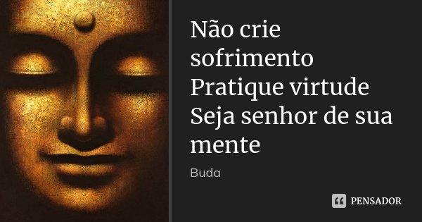 Não crie sofrimento Pratique virtude Buda