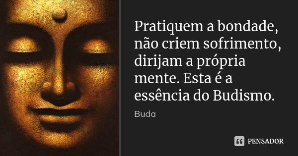 Pratiquem a bondade, não criem sofrimento, dirijam a própria mente. Esta é a essência do Budismo.... Frase de Buda.