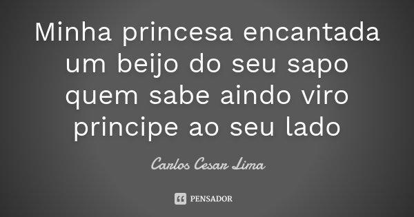 Ao Melhor Frases De Frida Kahlo Em Espanhol: Minha Princesa Encantada Um Beijo Do Seu... Carlos Cesar Lima