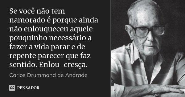 Se Você Não Tem Namorado é Porque Carlos Drummond De Andrade