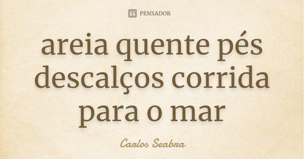 areia quente pés descalços corrida para o mar... Frase de Carlos Seabra.
