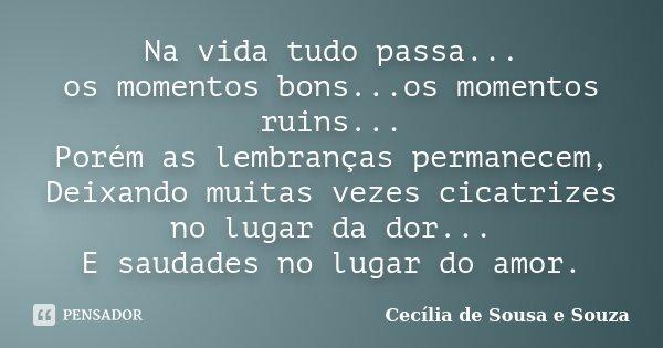 Na Vida Tudo Passa Os Momentos Cecília De Sousa E Souza