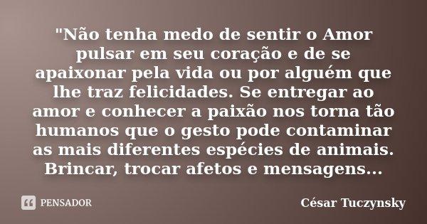 Não Tenha Medo De Sentir O Amor Cesar Tuczynsky