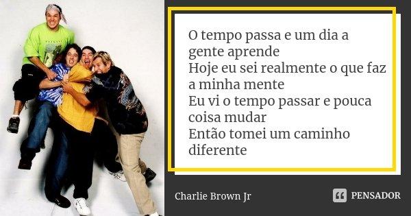 O Tempo Passa E Um Dia A Gente Aprende Charlie Brown Jr