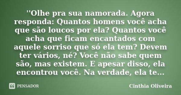 Olhe Pra Sua Namorada Agora Responda Cinthia Oliveira