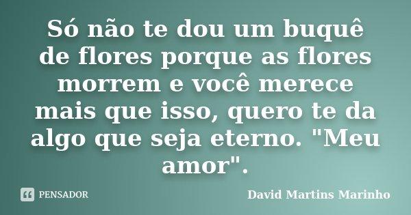Só Não Te Dou Um Buquê De Flores David Martins Marinho