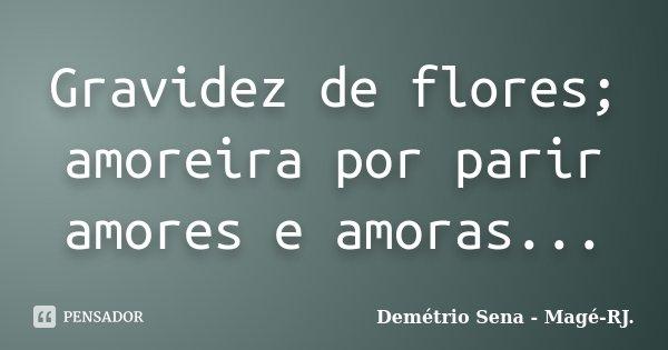 Gravidez de flores; amoreira por parir amores e amoras...... Frase de Demétrio Sena - Magé-RJ..