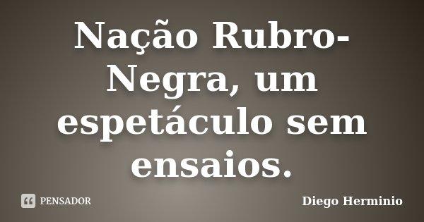 Nação Rubro-Negra, um espetáculo sem ensaios.... Frase de Diego Herminio.