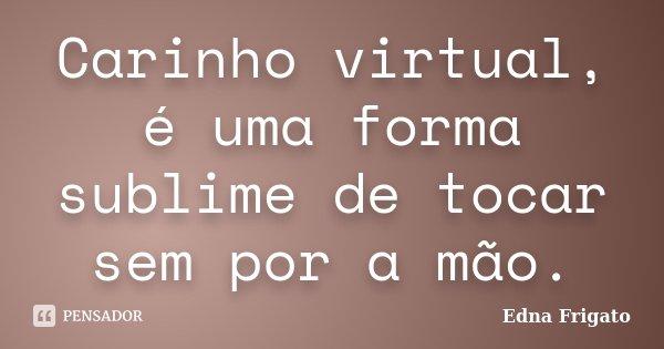 Carinho virtual, é uma forma sublime de tocar sem por a mão.... Frase de Edna Frigato.