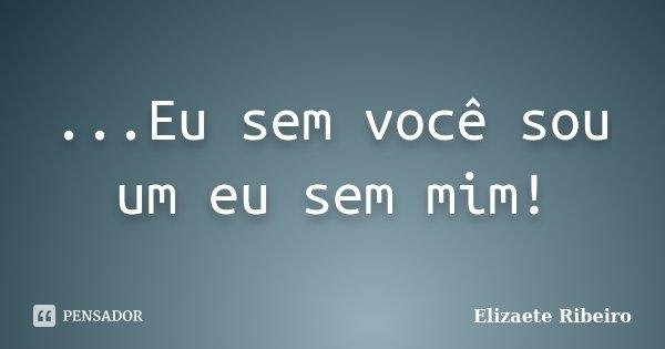 ...Eu sem você sou um eu sem mim!... Frase de Elizaete Ribeiro.