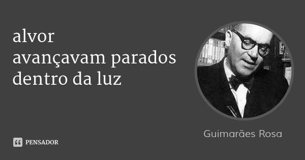 alvor avançavam parados dentro da luz... Frase de Guimarães Rosa.