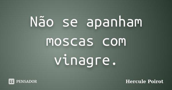 Não se apanham moscas com vinagre.... Frase de Hercule Poirot.