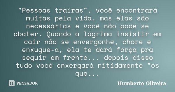 Pessoas Traíras Você Humberto Oliveira