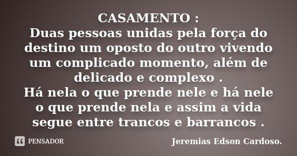 Casamento Duas Pessoas Unidas Pela Jeremias Edson Cardoso