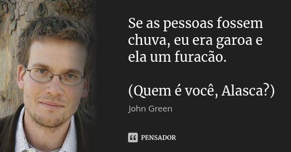 Se As Pessoas Fossem Chuva Eu Era Garoa John Green