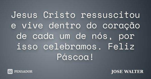 Jesus Cristo Ressuscitou E Vive Dentro Jose Walter
