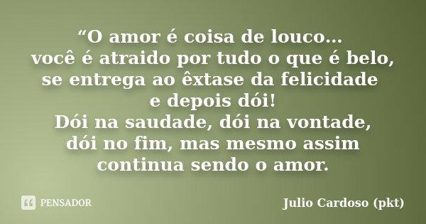 O Amor é Coisa De Louco Você é Julio Cardoso Pkt
