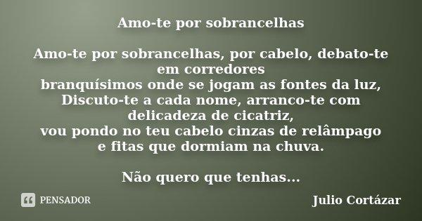 Amo Te Por Sobrancelhas Amo Te Por Júlio Cortázar