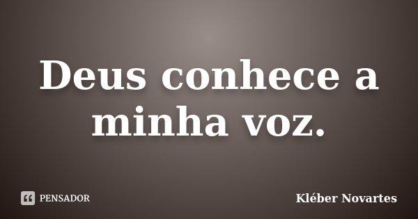 Deus conhece a minha voz.... Frase de Kléber Novartes.