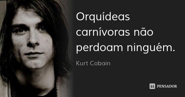 Orquídeas carnívoras não perdoam ninguém.... Frase de Kurt Cobain.