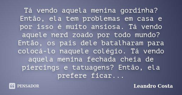 Tá Vendo Aquela Menina Gordinha Leandro Costa