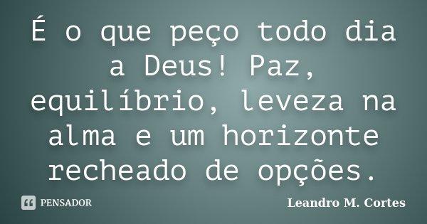 é O Que Peço Todo Dia A Deus Paz Leandro M Cortes