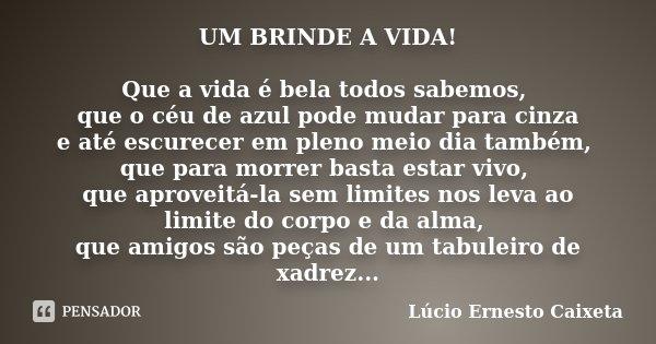 Um Brinde A Vida Que A Vida é Bela Lúcio Ernesto Caixeta