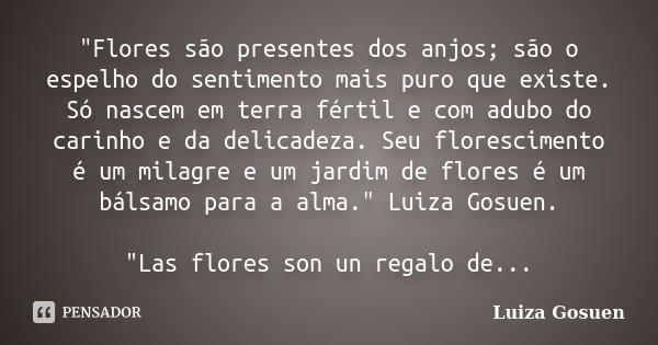 Flores São Presentes Dos Anjos Luiza Gosuen