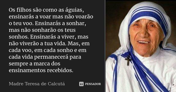 Os Filhos São Como As águias Madre Teresa De Calcutá
