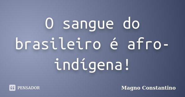 O sangue do brasileiro é afro-indígena!... Frase de Magno Constantino.