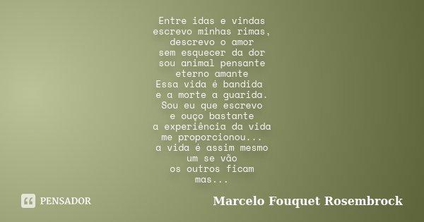 Entre Idas E Vindas Escrevo Minhas Marcelo Fouquet Rosembrock