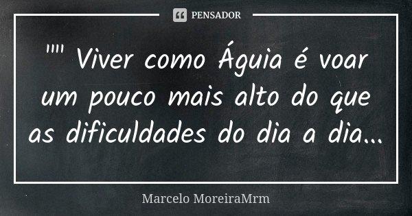 Viver Como águia é Voar Marcelo Moreiramrm