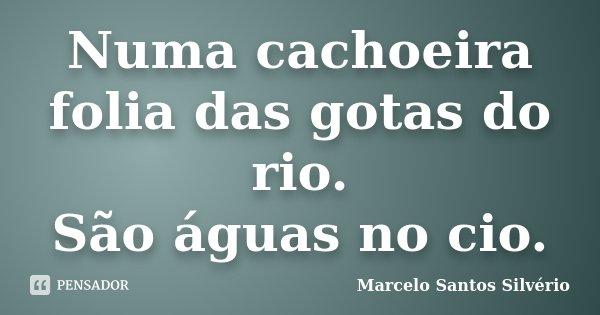 Numa cachoeira folia das gotas do rio. São águas no cio.... Frase de Marcelo Santos Silvério.